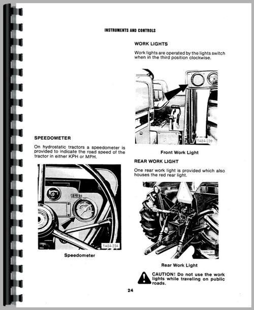 international harvester 484 tractor operators manual