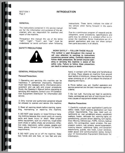 Case Ih 510 Loader Service Manual