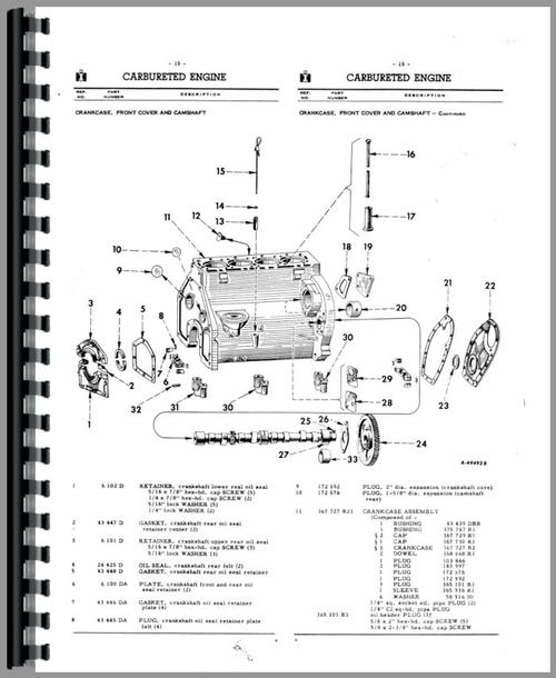 parts manual for international harvester 5614 forklift sample page from  manual