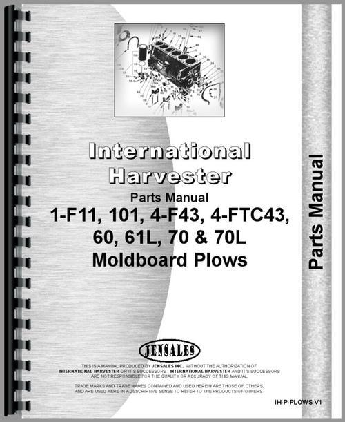 international harvester 60 plow parts manual. Black Bedroom Furniture Sets. Home Design Ideas