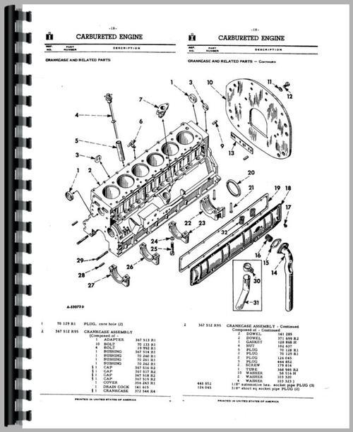 international harvester 660 tractor parts manual