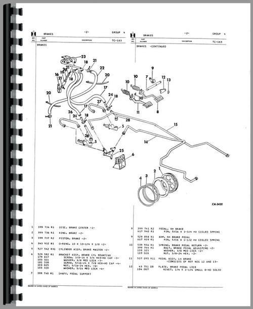 International Harvester 674 Tractor Parts Manual