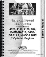 Service Manual for International Harvester Cub Cadet 982 Lawn & Garden Tractor Engine