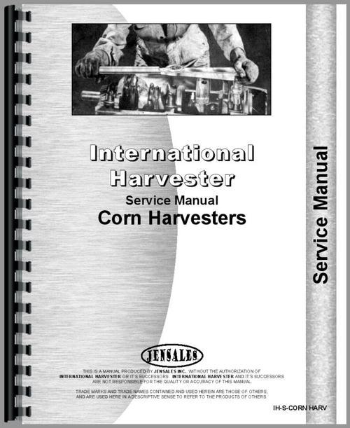 International Harvester All Corn Binder Service Manual