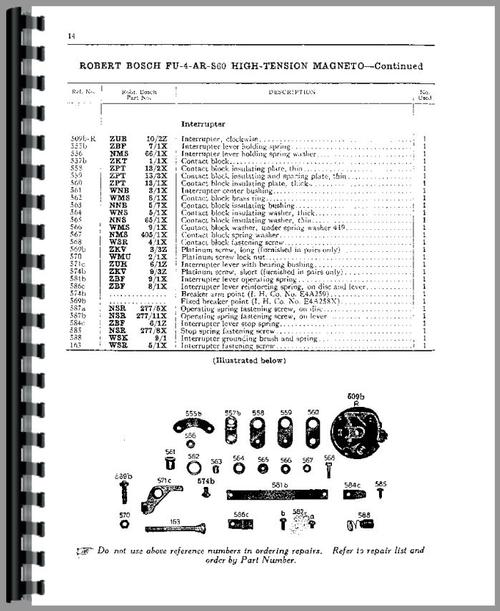 Service Manual for International Harvester All Robert Bosch Magnetos Sample Page From Manual