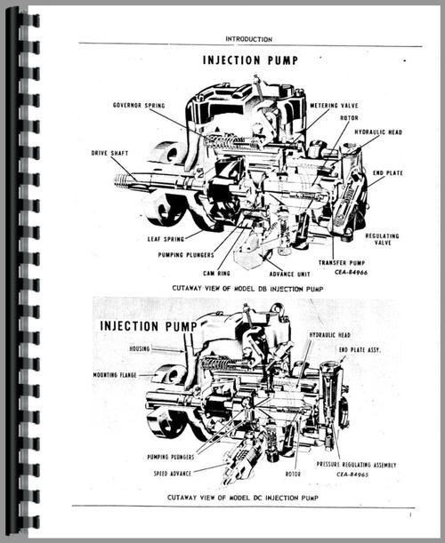 John Deere Injection Pump Troubleshooting >> International Harvester Roosa Master Injection Pump Parts Manual