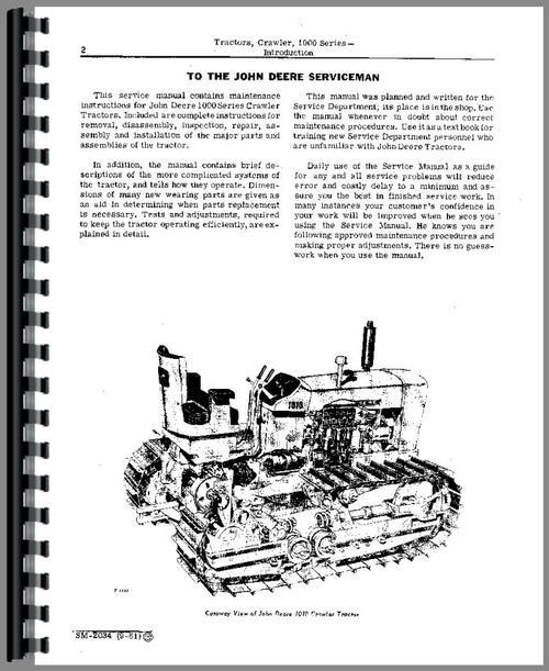 John Deere 1010 Crawler Service Manualrhthemanualstore: John Deere 1010 Parts Diagram At Cicentre.net