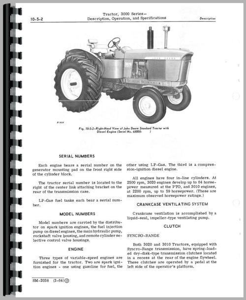 john deere 3010 tractor service manual. Black Bedroom Furniture Sets. Home Design Ideas