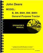 Operators Manual for John Deere BW Tractor