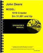 Operators Manual for John Deere 1010 Crawler