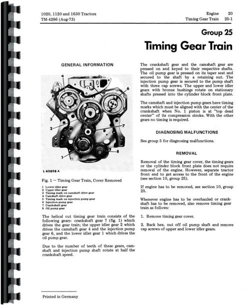 john deere 1120 tractor service manual rh themanualstore com john deere 1120 owners manual 1120 John Deere Hydraulic Problems