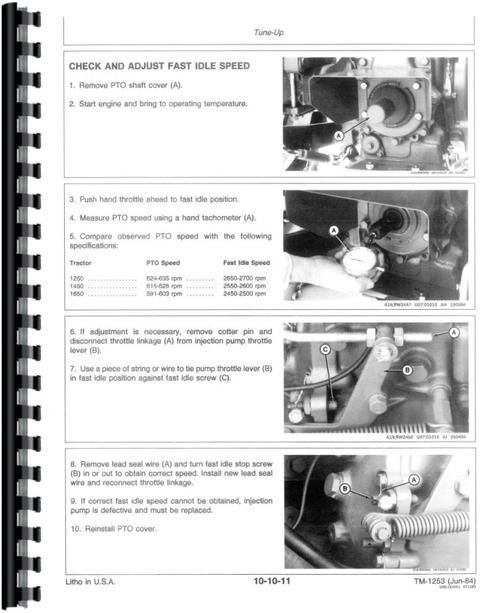 john deere 1450 tractor service manual John Deere Riding Mower Manuals John Deere 1010 Wiring Schematic