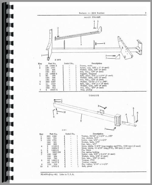 John Deere Baler Replacement Parts : John deere baler parts manual