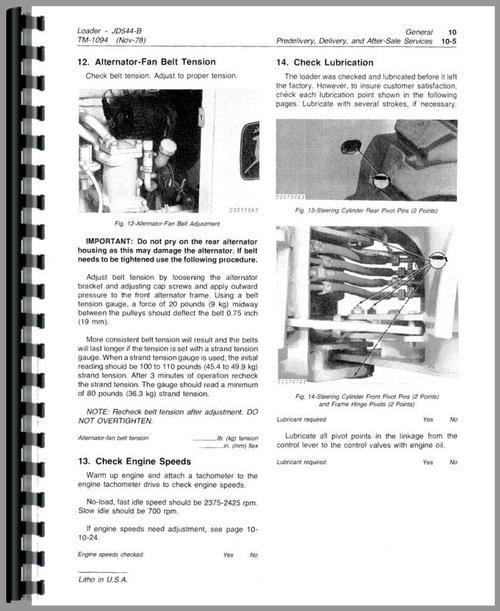 john deere 544b wheel loader service manual rh themanualstore com John Deere 544B Transmission John Deere 544B with Rake