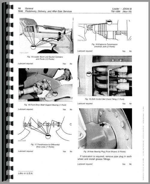 john deere 544b wheel loader service manual rh themanualstore com john deere 544b loader service manual John Deere 544E
