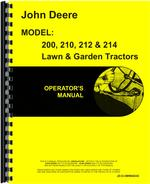 Operators Manual for John Deere 210 Lawn & Garden Tractor