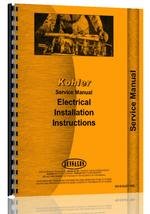 Service Manual for Kohler all Electric Plants Installation Instructions