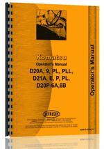 Operators Manual for Komatsu D20A Crawler