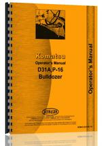 Operators Manual for Komatsu D31A Crawler