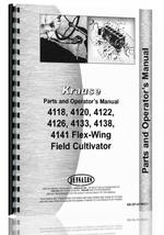 """Operators & Parts Manual for Krause 4118, 4120, 4122, 4126, 4129, 4133, 4138, 4141 Flex-Wing Field Cultivator"""