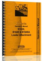 Operators Manual for Kubota B1630 Loader Attachment for B7100E Tractor