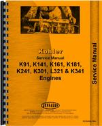 Service Manual for Kohler all Lawn & Garden Tractor Single Cylinder Engine