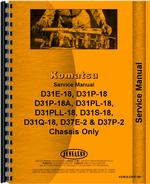 Service Manual for Komatsu D31E-18 Crawler