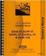 Operators Manual for Komatsu D31P-17 Crawler