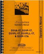 Operators Manual for Komatsu D31P-17A Crawler