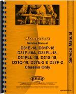 Service Manual for Komatsu D31P-18A Crawler