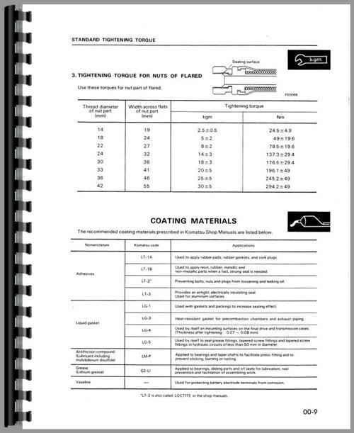 Service Manual for Komatsu D37P-2 Crawler Sample Page From Manual