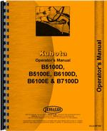 Operators Manual for Kubota B5100E Tractor