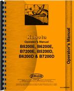 Operators Manual for Kubota B5200D Tractor