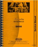 Service Manual for Kubota B6000 Tractor