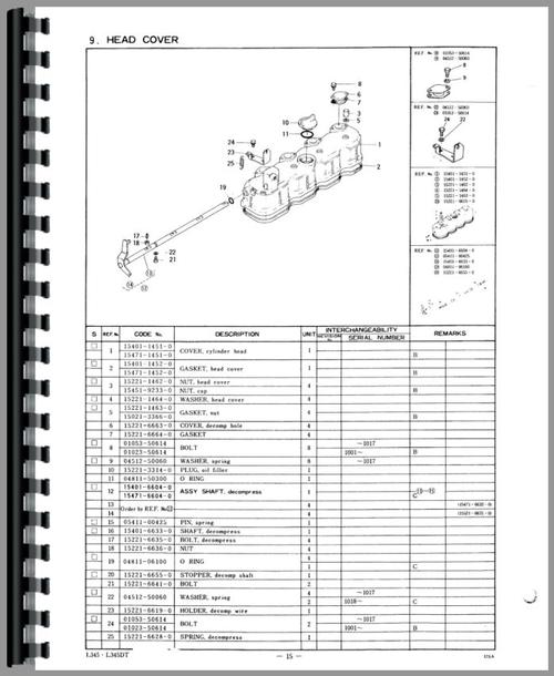 kubota l345dt tractor parts manual