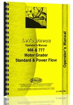 Operators Manual for Le Tourneau 666 Grader