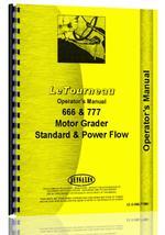 Operators Manual for Le Tourneau 777 Std & Power Flow