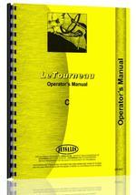 Operators Manual for Le Tourneau all Tournapull