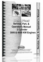 Service Manual for Light Plant all Light Plant w/2-cyl eng 3000 or 4000 KW Generator