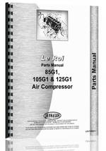 """Parts Manual for Leroi 85G1, 105G1, 125G1 Air Compressor"""