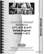 Service Manual for Le Tourneau D Tractor & Scraper Detroit Diesel Engine