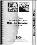 Service & Operators Manual for Leroi 125 Tract Air Tractor & Air Compressor