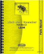 Parts Manual for Link Belt Speeder LS-98 Drag Link or Crane