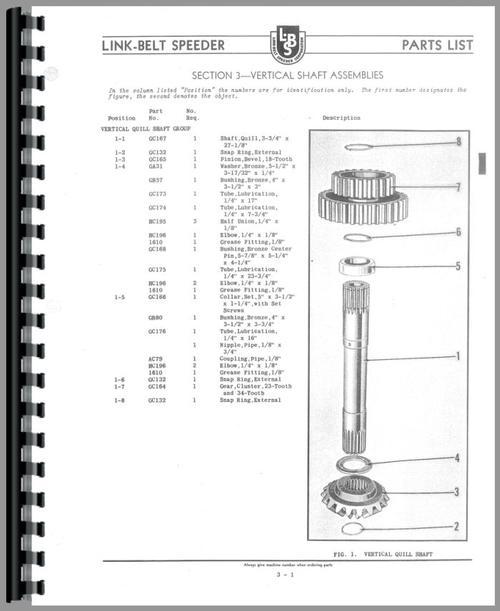 Spare Parts Link Belt Crane : Link belt speeder drag or crane industrial