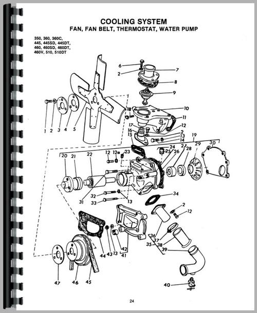 460 Long Tractor Parts Diagrams