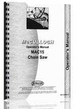 Operators Manual for Mcculloch MAC 15 Chainsaw