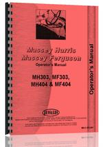 Operators Manual for Massey Ferguson 303 Tractor