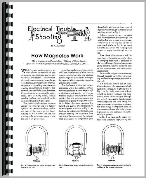 Service Manual for Magnetos 220 Magneto Sample Page From Manual