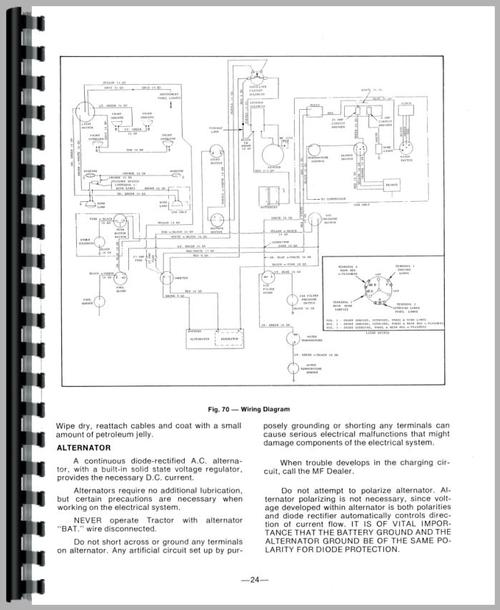Captivating Massey Ferguson 175 Alternator Wiring Diagram Pictures ...