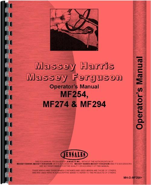 massey ferguson 274 tractor operators manual rh themanualstore com massey ferguson 274 manual massey ferguson 274 service manual